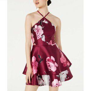 Speechless 11 Purple Pink Floral Dress NWT AP39